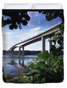 Foyle Bridge, Derry City, Co Duvet Cover
