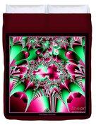 Fractal 12 Candycane Jester Duvet Cover