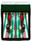 Fractal 29 Christmas Ribbons Duvet Cover