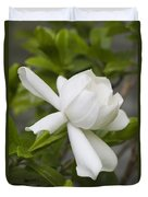 Fragrant White Gardenia Blossom Duvet Cover