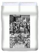 France: Baptism, 1704 Duvet Cover