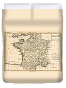 France By Regions Duvet Cover