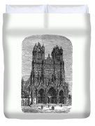 France: Reims Cathedral Duvet Cover