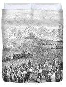 France: Wine Harvest, 1871 Duvet Cover