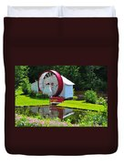 Franconia Notch Waterwheel Duvet Cover by Catherine Reusch Daley