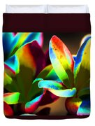 Frangipani Flowers Of Color Duvet Cover