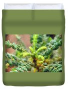 Frankincense Tree Leaves Duvet Cover