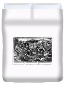 Franklin: Cartoon, 1764 Duvet Cover