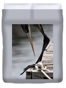 Fred The Great Blue Heron Duvet Cover