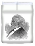 Frederick Douglass (c1817-1895). American Abolitionist. Wood Engraving, American, 1877 Duvet Cover