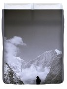 Freedom In The Himalayas In Nepal Duvet Cover