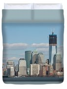 Freedom Tower And Manhattan Skyline II Duvet Cover