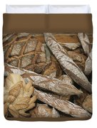 French Breads At A Bazaar In Provence Duvet Cover