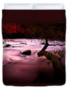 French Broad River In Fall Duvet Cover