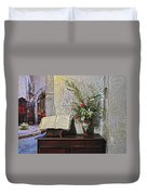 French Church Decorations Duvet Cover