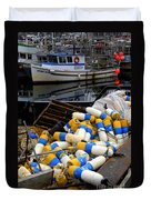 French Creek Trawlers Duvet Cover
