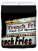 French Fries Sign Duvet Cover
