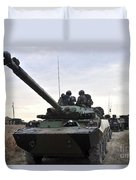 French Marines Lead A Convoy Of Combat Duvet Cover