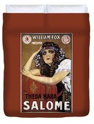 French Poster: Salome, 1918 Duvet Cover