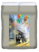 French Quarter In New Orleans Bis Duvet Cover