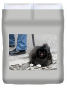 Frenchman And His Dog Duvet Cover