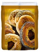 Fresh Bagels Duvet Cover by Elena Elisseeva