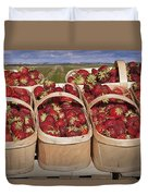 Fresh Picked Strawberries Duvet Cover