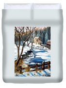 Fresh Snow In Virginia Duvet Cover