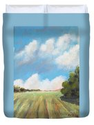 Freshly Cut Hay Field Duvet Cover