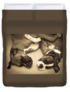Friendship Embrace Duvet Cover