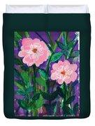 Friendship In Flowers Duvet Cover