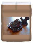 Frog And Rooster Duvet Cover