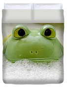 Frog In The Bath  Duvet Cover