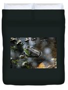 Frog In The Millpond Duvet Cover