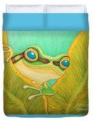 Frog Peeking Out Duvet Cover