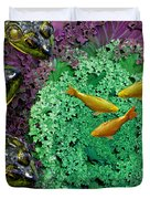 Froggery 2 With Koi Duvet Cover