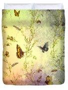 Frolicing Butterflies Duvet Cover