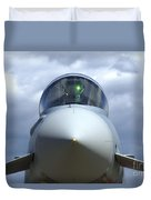 Front View Of A Eurofighter Typhoon Duvet Cover