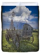 Frontier Farm In 1880 Town Duvet Cover