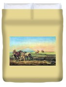 Frontiersmen And Native American Duvet Cover