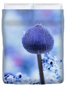 Frost Covered Mushroom, North Canol Duvet Cover