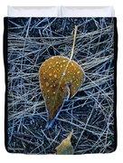 Frost On An Aspen Leaf Duvet Cover