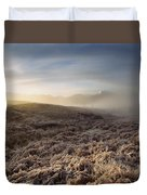 Frosted Fields And Misty Valley Duvet Cover