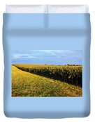 Frosted Soybeans Duvet Cover