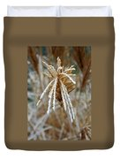 Frosty Fountain Grass Duvet Cover
