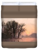 Frosty Morning At The Lake Duvet Cover