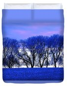Frosty Trees Duvet Cover