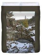 Frozen Sink Hole Duvet Cover