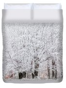 Frozen Trees Duvet Cover