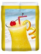 Frozen Tropical Orange Drink Duvet Cover